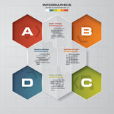 Abstract 4 steps presentation template. EPS10. For your design and sample text Stock Image