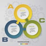 Abstract 3 steps presentation template infographis elements. Vector illustration Royalty Free Stock Images