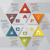 Abstract 6 steps star shape chart layout for sample text&data. Stock Photo