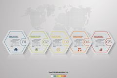 Abstract 5 steps timeline infographics element elements. EPS 10. Abstract 5 steps timeline infographics element elements.Vector illustration. EPS 10 Royalty Free Stock Photography