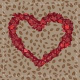 Abstract Stitched Heart on background Stock Photo