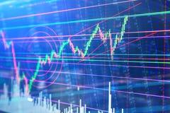 Abstract stock martet diagram candlebars trade Stock Photos