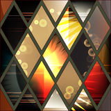 Abstract stock  seamless patchwork pattern. geometric desi Royalty Free Stock Photography