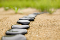 Abstract stone path Stock Image
