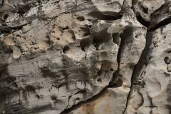 Stone texture with holes royalty free stock image