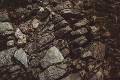 Abstract stone texture from waves erode, nature background. Top view. Copy space. Can use as banner. stock photo