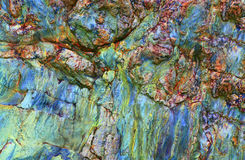 Abstract stone textures. Details, colors and textures of a natural rock formation Royalty Free Stock Images