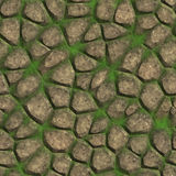Abstract stone walkway pattern. Seamless. Walkway tiled stones. Sharp edges. Best for replicate Royalty Free Stock Photos