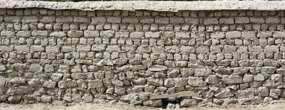 Abstract stone wall structure in Ladakh Stock Photo