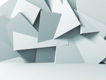 Abstract Stone Wall White Background. 3d Render Illustration Stock Photos