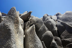 Abstract stones and blue sky Stock Photos