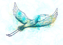 Abstract stork bird flying. Vector illustration, EPS10. Royalty Free Stock Photography