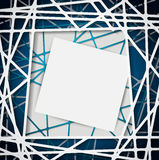 Abstract straight lines with blank paper background for your text Stock Photo
