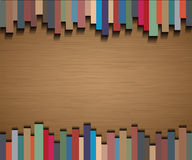 Abstract straight lines with brown paper background Stock Photo