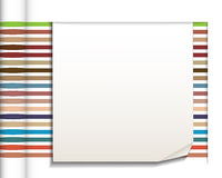 Abstract straight lines with white paper background Royalty Free Stock Photos