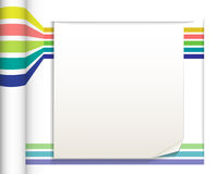 Abstract straight lines with white paper background Royalty Free Stock Photography