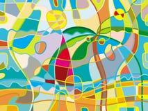Abstract strand stock illustratie