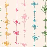 Abstract strands with knots. Seamless pattern. Vector illustrati. On Royalty Free Stock Image