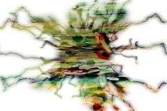Abstract strange waxy watercolor background Royalty Free Stock Photos