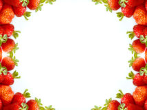 Abstract strawberry frame Stock Image
