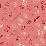 Abstract strawberry texture, endless berry background. Endless f Stock Image