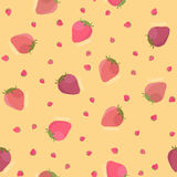 Abstract strawberry texture. Seamless pattern. Stock Photography