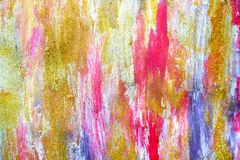 Abstract streams of paints on the wall royalty free stock photo