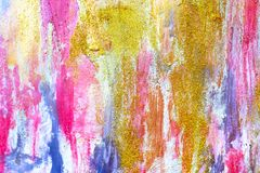 Abstract streams of paints on the wall royalty free stock photos