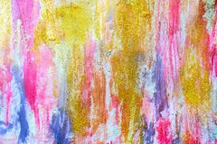 Abstract streams of paints on the wall royalty free stock images