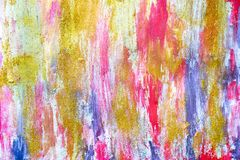 Abstract streams of paints on the wall stock photos