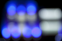 Abstract street background. Abstract street blue bokeh background Royalty Free Stock Photos