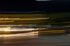 Abstract street light at night. Abstract slow speed car light at night Stock Photography