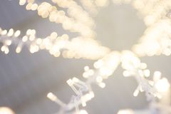 Abstract string light on white fabric wedding decorate