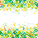 Abstract strip of colorful mosaic mix geometric pattern design on below and top part and space for text on center Royalty Free Stock Photo