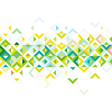 Abstract strip of colorful mosaic mix geometric pattern design, on middle part Stock Photography