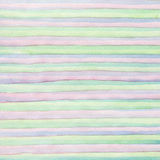 Abstract strip watercolor hand painted background. Royalty Free Stock Photography