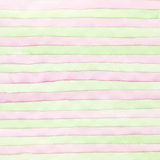 Abstract strip watercolor hand painted background. Stock Photography