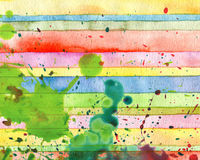Abstract  strip watercolor painted background. Paper texture Stock Photos