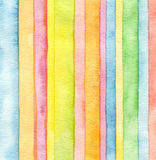 Abstract strip watercolor painted background. Stock Images