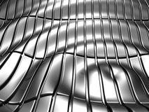 Abstract stripe aluminum pattern. Abstract stripe aluminum wave pattern background 3d illustration Royalty Free Stock Photography