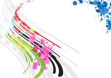 Abstract stripe background design. And ink splatter Stock Photo