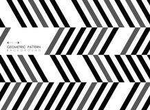 Abstract of stripe line black gray white pattern op art backgrou stock illustration