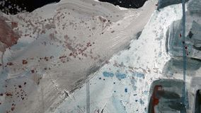 Painting fragment. Oil on canvas texture. abstract background. brushstrokes stock illustration