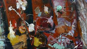 Painting fragment. Oil on canvas texture. abstract background. brushstrokes royalty free illustration