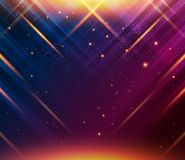 Abstract striped background with light effects. Vector image. Stock Photos