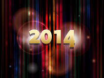2014 abstract striped background. New Year 2014 Glowing Striped Background Royalty Free Stock Photos