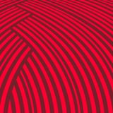 Abstract striped background. Red curve pattern. Royalty Free Stock Photography