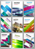 Abstract striped background set Stock Photography