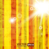 Abstract Striped Background With Sunburst Flare Stock Photography