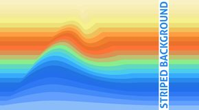 Abstract striped background with wave. Vector wallpaper vector illustration